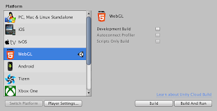 A Database Template Contains Pre Built Unity Manual Building And Running A Webgl Project