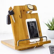 wooden phone charging station designs