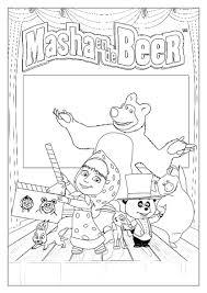 Kleurplaat Masha En De Beer Kleurplaat Kleurplaten Diy Zappelin