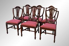 shield back dining room chairs. sold set of six mahogany duncan phyfe shield back dining chairs room