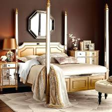 hayworth collection mirrored furniture. Hayworth Collection Furniture Queen Canopy Bed Gold Mirrored Bedroom Review