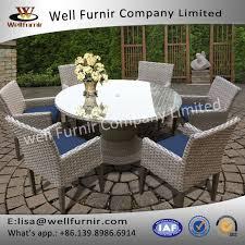 well furnir wf 17060 7 piece dining set with cushions