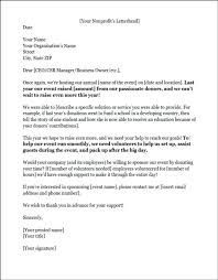 letter for volunteers example of a sponsorship letter requesting volunteers we
