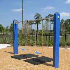rubber swing set mats 2ft x 4ft x 1in playgroung mats showing swings