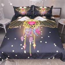 Dream Catcher Crib Set Home Textile New Arrival Fly Dream Catcher Bedding Set 100d Printed 83