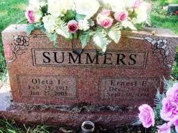 SUMMERS, ERNEST E - Carroll County, Arkansas | ERNEST E SUMMERS - Arkansas  Gravestone Photos
