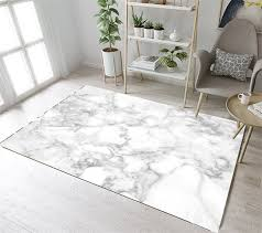 LB Non slip Marble Texture Nordic Kitchen White Area Rug For Living ...