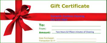 gift certificates for home cleaning by domestic goddess cleaning