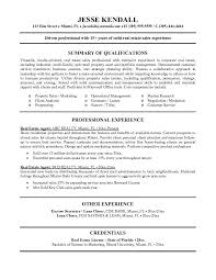 Real Estate Resume Real Estate Agent Jesse Kendall ...