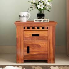 wooden bedside table designs