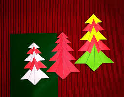 Paper Christmas Tree Ornaments Easy Origami Christmas Tree Paper Christmas Tree Christmas Card