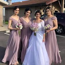 Watters Bridesmaid Size Chart Country Bridesmaids Dresses With Cap Sleeves Lace Chiffon Plus Size Wedding Guest Dresses A Line V Neck Maid Of Bride Dresses Floor Length Watters And