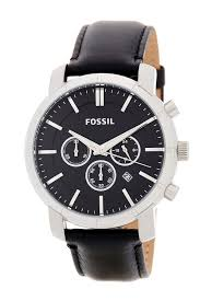 fossilmen s other me chonograph leather watch