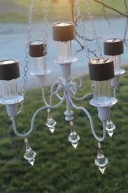 outdoor solar lighting ideas. solar bulbs in an old chandelier awesomeoutdoor outdoor lighting ideas