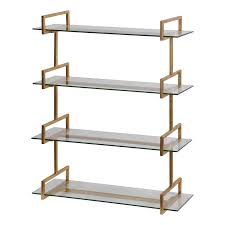 uttermost auley gold wall shelf hover to zoom