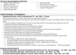 General Manager CV Example for Management   LiveCareer soymujer co