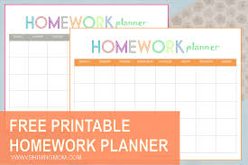 Homework Agenda Printable Free Printable Homework Planner
