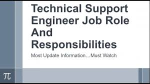 Technical Engineer Job Description Technical Support Engineer Job Role And Responsibilities Youtube