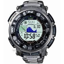 men s casio pro trek titanium alarm chronograph radio controlled mens casio pro trek titanium alarm chronograph radio controlled watch prw 2500t 7er