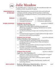 Marketing Job Resume Examples Essential Student Resume Samples My Perfect Resume