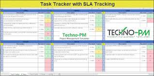 Task Management Excel Sheet Simple Excel Task Tracker With Sla Tracking Project