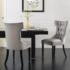 fabric dining chairs with nailheads. belleze set of 2, gray premium dining chairs side room fabric indoor w/ nailhead with nailheads l
