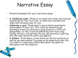 How To Write A Narrative Essay Example Topics