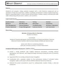 chemistry resume examples template chemistry resume examples