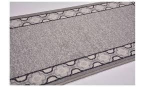 antibacterial gray trellis border skid resistant runner rug 2 x7 rugs