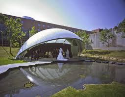 Curved Architecture Elegant Japanese Wedding Chapel Mimics Curved Leaves Inhabitat
