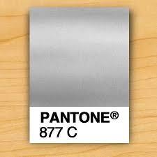 Swatch Pantone 877c Metallic Silver In 2019 Pantone