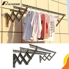 wall clothes drying racks wall mounted push pull aluminium alloy clothes drying rack for indoor outdoor and balcony wall mounted clothes drying alloy