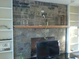 can you mount a tv above stone fireplace ideas
