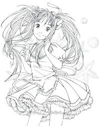 Cute Anime Coloring Pages Anime Color Pages Anime Color Pages To