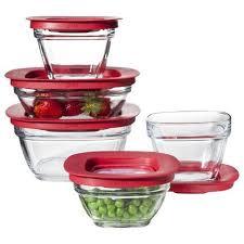target rubbermaid glass food storage set