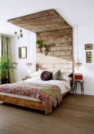 Bedroom: Wooden Headboard Garden For Bedroom - DIY Headboard