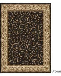 unique olefin carpet home. Amalfi Scroll Black/Gold Olefin Area Rug (5\u00275 X 7\u00277 Unique Carpet Home T