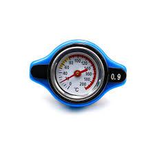 Us 8 04 6 Off Blue 0 9 Bar Thermostatic Radiator Cap Pressure Rating Temperature Meter Gauge Small Head For Honda Accord Civic Del Sol In Radiators