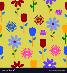 colorful flower patterns. Delighful Colorful Colorful Flowers Background Pattern Vector Image For Flower Patterns L