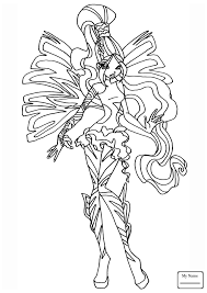 Tranh Tô Màu Công Chúa Winx Layla - Phần 45