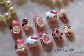 Hello kitty 3d nail art supplies - how you can do it at home ...