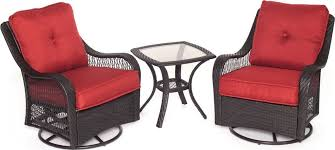incredible outdoor swivel chairs with orleans 3 piece outdoor bistro set with swivel glider chairs