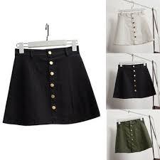 <b>Women's</b> Short <b>Skirt</b> HighWaist <b>Skirt Korean Style</b> Denim <b>Skirt</b> A ...