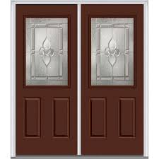 Feather River Doors 66 in. x 81.625 in. Mission Pointe Zinc 1/2 ...