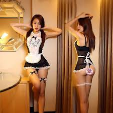Lovely Image Is Loading SEXY NAUGHTY FRENCH MAID COSTUME See Through OUTFIT