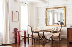 home office alternative decorating rectangle. Delighful Office An Oversized Rectangular Mirror Is Flanked By Artwork In The Dining Area  Of Designer Mariette To Home Office Alternative Decorating Rectangle S