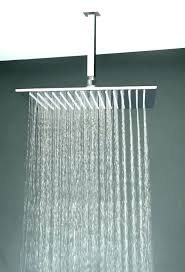 rainfall shower head brushed nickel savillerowcom shower rain head croydex rain shower head arm and hose