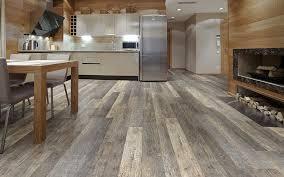 vinyl sheet flooring installed on a large kitchen floor