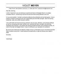 Cover Letter Sample For Fresh Graduate Hospitality Management Cv In