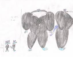 A Size Chart For Furrball And His Inflato Tux By Fireball H